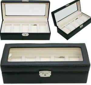 即納品ベローナ(VERONA)本革5本収納時計ケース時計ボックス/ウォッチ