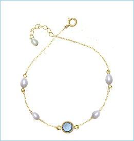 DM便【送料無料】レディース/女性用ホワイト真珠/パール/ブルーライトサファイアペンダントネックレス