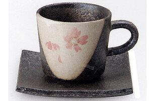 【コーヒーがおいしくなる コーヒーカップ 】信楽焼 コーヒーカップ 桃桜コーヒー碗皿 出産祝い 誕生日 引き出物 結婚祝い 記念品 開店祝い 開業祝い 退職祝い 新築祝い 内祝い 敬老の日