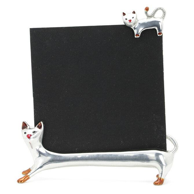 ロイファー LOYFAR フォトフレーム キャット (シルバー) PHOTO FRAME CAT PF024L 写真立て フレーム 猫 ねこ ネコ 【ラッキーシール対応】