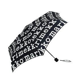 マリメッコ marimekko マリロゴ マニュアル開閉 折りたたみ傘 (ブラック) MARILOGO MINI MANUAL 048859 041399 910 アンブレラ