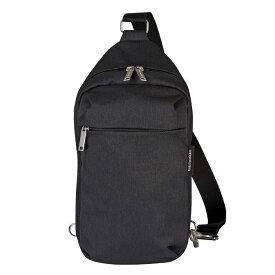 マリメッコ marimekko コルッテリ クロスボディバッグ Kortteli crossbody shoulder bag (ブラック) 045485 099 サコッシュ 黒 男女兼用 無地 アウトドア