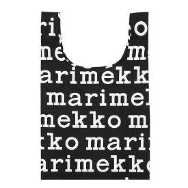 マリメッコ marimekko マリロゴ スマートバッグ (ブラック×ホワイト) SMARTBAG MARILOGO ECOBAG エコバッグ マリメッコロゴ 048854 910
