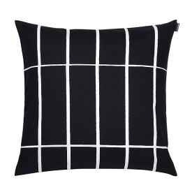 マリメッコ marimekko ティイリスキヴィ クッションカバー 50x50cm (ブラック×ホワイト) 066707 910 Tiiliskivi Cushion cover
