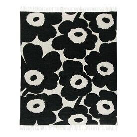 マリメッコ marimekko ウニッコ ウールブランケット (ホワイト×ブラック) Unikko blanket 130x180cm 068994 190 マフラー ストール 【ラッキーシール対応】