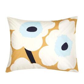 マリメッコ marimekko ウニッコ ピローケース 50x60cm (ベージュ×オフホワイト×ブルー) 069081 815 Unikko pillow case 枕カバー