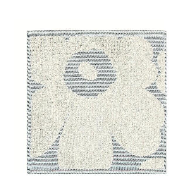 マリメッコ marimekko コットン ウニッコ ジャカード ミニタオル 30x30cm (オフホワイト×ブルー) Unikko Jacquard mini towel 069109 150 【楽ギフ_包装】