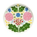 マリメッコ marimekko オンニ プレート 20cm (ホワイト×ピンク×グリーン) 069655 101 Onni plate 小皿 【ラッキーシール対応】