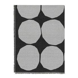 マリメッコ marimekko キヴェット ブランケット (オフホワイト×ブラック) Kivet blanket 069769 190 マフラー ストール ドット