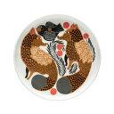 マリメッコ marimekko ケトゥンマルヤ プレート 13.5cm (ホワイト×ブラウン×ブラック) 069019 815 Ketunmarja plate 小皿 【ラッキーシール対応】