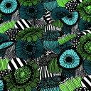 マリメッコ marimekko ファブリック生地 ピエニシイルトラプータルハ (160 ホワイト×グリーン×ブラック) 10cm単位…