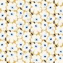 マリメッコ marimekko 撥水加工 アクリルコーティングコットン生地 ピエニウニッコ (ベージュ×オフホワイト×ブルー) 10cm単位カット販売 068431 815 Cotton fabric Pieni Unikko Coated マリメッコ生地 【ラッキーシール対応】