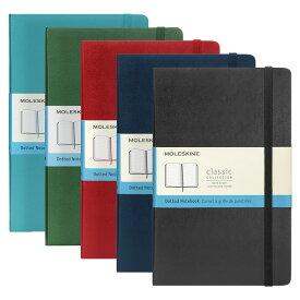 モレスキン MOLESKINE クラシック ノートブック (ドット方眼) ラージ ハードカバー / 13.0x21.0cm(5色) CLASSIC NOTEBOOKS HARD COVER DOTTED LARGE
