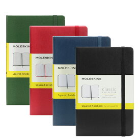モレスキン MOLESKINE クラシック ノートブック スクエア(方眼)ポケット ハードカバー / 9.0x14.0cm(4色) CLASSIC NOTEBOOKS HARD COVER SQUARED POCKET