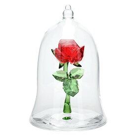 スワロフスキー SWAROVSKI ディズニー 美女と野獣 魔法のバラ 9 x 6.2 x 6.2 cm (クリア×レッド) エンチャンテッドローズ 5230478 ENCHANTED ROSE DISNY
