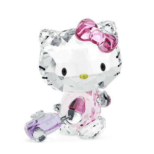 スワロフスキー SWAROVSKI ハローキティトラベラー 5.1 x 4.2 x 3.4 cm (クリア×ピンク) 5279082 Hello Kitty Traveller キャット 猫