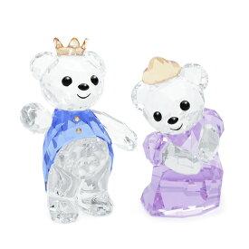スワロフスキー SWAROVSKI フィギュリン クリスベア プリンス&プリンセス 5.7 x 4.7 x 2.8 cm (クリア×ブルー×パープル) 5301569 Prince & Princess クマ 【ラッキーシール対応】
