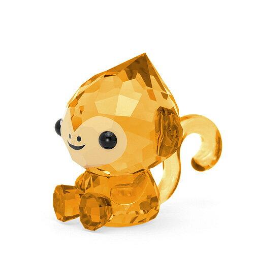 スワロフスキー SWAROVSKI 十二支 モンキー 3.1 x 3.1 x 3.5 cm (ブラウン) 5302555 CHEERFUL MONKEY さる サル 猿 申 干支