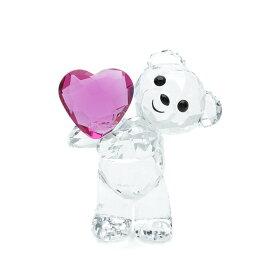 スワロフスキー SWAROVSKI クリスベア テイクミーハート 4.2 x 3.4 x 2.4 cm (クリア×パープル) 5427995 KRIS BEAR TAKE MY HEART クマ 【ラッキーシール対応】