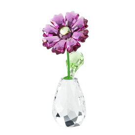 スワロフスキー SWAROVSKI フラワードリームス ガーベラ 6.9 x 3 x 3.3 cm (クリア×パープル) 5439225 FLOWER DREAMS GERBERA 花 【ラッキーシール対応】