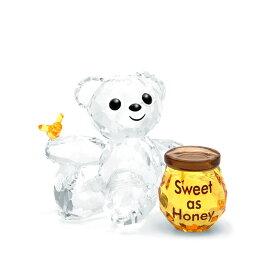 スワロフスキー SWAROVSKI クリスベア スウィート アズ ハニー 3.2 x 4.1 x 3 cm (クリア×ゴールド) 5491970 KRIS BEAR SWEET AS HONEY クマ