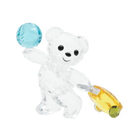 スワロフスキー SWAROVSKI クリスベア アイ トラベル ザ ワールド 4.1 x 4.2 x 3.6 cm (クリア×ゴールド×ブルー) 5491972 KRIS BEAR I TRAVEL THE WORLD クマ