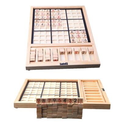 SUDOKU数独木製パズルナンバープレイスナンプレ推理ゲーム卓上ゲーム9ブロックキッズ子供教育玩具おもちゃ大人ボードゲーム◇ALW-ZC024