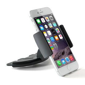 取付簡単 車載用 スマホ タブレット ホルダー スタンド フォルダ 7インチ対応 iPhone6 Plus iPad mini CD挿入口 360度回転可能 ◇ALW-LP-8B