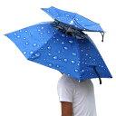 レジャーハット 折りたたみ傘 帽子 かぶる傘 釣り 日差しカット 屋外イベント スポーツ 観戦キャンプ 屋外作業 農作業…