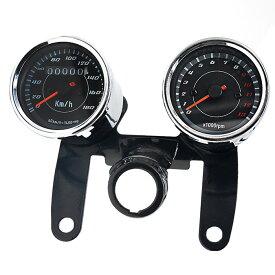 LED バックライト付 スピード タコメーター バイク カスタマイズ アナログメーター バイクアクセサリー WUPP ◇ALW-CS-360A1
