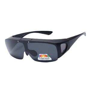 ナイトビジョンサングラス 夜間用オーバーサングラス ドライブサングラス 跳ね上げ式レンズ スポーツ メガネの上からかけられる ◇ALW-A8118【定形外郵便】