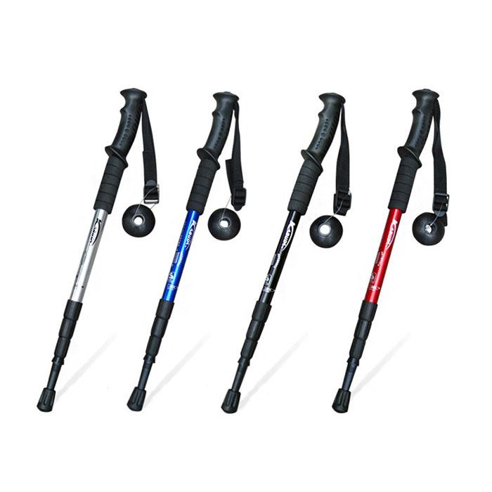 ウォーキング ポール ステッキ 杖 アルミ製 軽量 自由伸縮 トレッキング 散歩 山歩き ストック 登山 ハイキング ◇ALW-A401