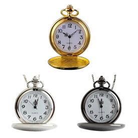 アンティーク風 懐中時計 Pocket Watch インテリア 画面スケルトン 鏡面仕様 ネックレス◇ALW-QUARTZ-1【メール便】【1000円 ポッキリ】