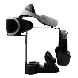 Playstation VR 用 4in1 多機能 縦置き スタンド 本体 ヘッドホン スタンド コントローラ 最大 2台 充電 可能 ◇ALW-PSVR-STAND   psvr VRゴーグル マスク ゴーグル 縦置きスタンド コントローラー ps4 プレイステーションvr 周辺機器 充電スタンド プレイステーション