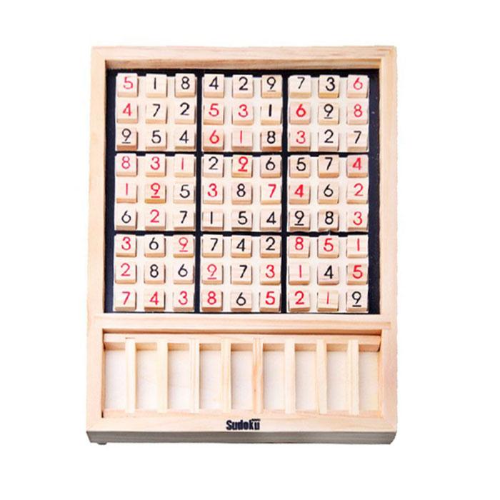 SUDOKU 数独 木製 パズル ナンバープレイス ナンプレ 推理ゲーム 卓上ゲーム 9ブロック キッズ 子供 教育玩具 おもちゃ 大人 ボードゲーム ◇ALW-ZC024