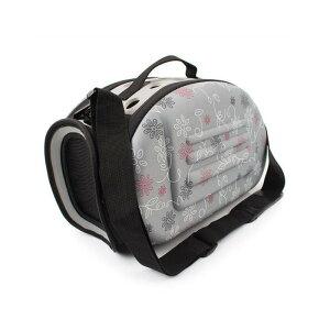 ペットキャリーケース ペットバッグ ショルダー 肩掛け 犬 猫 屋外 旅行 折りたたみ 軽量 コンパクト 通気性 可愛い 2way Sサイズ ◇ALW-ZS011606-S