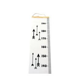布製身長計 成長記録 記念 ヨーロッパー風 プレゼント 壁掛け 目盛 インテリア 船 三角 矢印 メジャー 模様 最大2mまで測定可能 ◇ALW-ROLL-METER【定形外郵便】