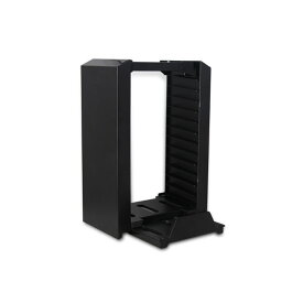 PS4 PRO・SLIM用 12枚ソフト収納 縦置きスタンド コントローラー 2台対応 充電対応 モーションコントローラー | プレステ4 プロ スタンド プレイステーション4 収納 充電スタンド 置くだけ 充電器 ゲーム機 プレステ◇ALW-TP4-025