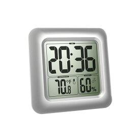 バスルームクロック デジタル 防滴時計 温度湿度計 シャワー時計 吸盤 壁掛け 置き時計 お風呂 温度計 湿度計 【並行輸入品】 ◇ALW-CL0006SI1|時計 デジタル時計 おふろ バスクロック シャワークロック 置時計 デジタル置時計 デジタル温湿度計 便利グッズ バスタイム