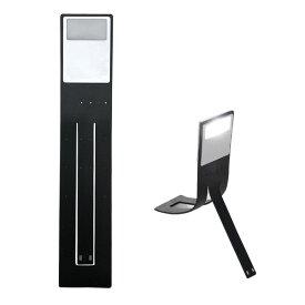 LEDブックライト USB充電式 読書灯 4段階の明るさ 栞にもなる しおり ランプ 軽い 薄い 持ち運び便利 柔らかい 本に挟める ブラック ◇ALW-DN-5V【メール便】