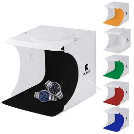 小型 撮影ボックス 折りたたみ 簡易 ミニ スタジオ キット LEDライト付き 550LM 写真撮影 明るい 背景布付き USB給電 【並行輸入品】 ◇ALW-PU5021