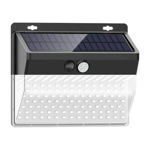 206LED ソーラーライト ウォールライト 人感 センサーライト PIRモーションセンサー 夜間自動点灯 IP65防水 太陽光充電 屋外 玄関灯 壁 ◇ALW-AXW-W02206 玄関 ウォール ライト ソーラー センサー 人