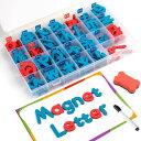 マグネット アルファベット 212ピース 磁力吸着 大文字×2 小文字×6 疑問符・感嘆符×2 EVA製 ホワイトボード付き 英…