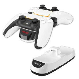 PS5 コントローラー充電器 2台同時充電 USB給電式 充電スタンド 充電ドック プレイステーション5 PlayStation5 コントローラー対応 ◇ALW-SND-468【定形外郵便】