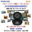 WANSCAM 防犯カメラ ネットワーク ベビーモニター 無線LAN 720P P2P SDカード IPカメラ レンズ/3.6mm 解像度:100万画素 13発LED、赤外線距離10m レンズ 3.6