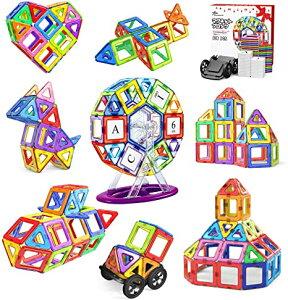 Jasonwell 108pcs マグネットブロック 磁気おもちゃ マグネットおもちゃ 磁石ブロック 子供 知育玩具 幼児 に 人気 の おもちゃ 女の子 おもちゃ 日本語バッケージ 磁石玩具 立体パズル ゲーム モ