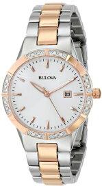 ブローバ 腕時計 レディース 98R169 Bulova Women's 98R169 Two-Tone Watch with Diamond-Accented Bezelブローバ 腕時計 レディース 98R169