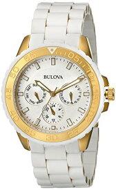 ブローバ 腕時計 レディース 98N102 Bulova Women's 98N102 White Rubber Wrapped Stainless-Steel Bracelet Watchブローバ 腕時計 レディース 98N102