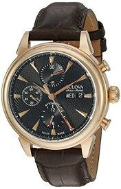 ブローバ 腕時計 メンズ 64C105 Bulova Men's 'Gemini' Swiss Automatic Stainless Steel and Brown Leather Casual Watch (Model: 64C105)ブローバ 腕時計 メンズ 64C105