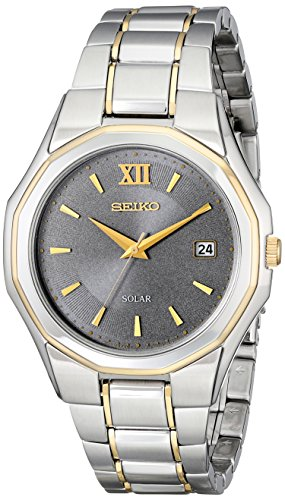 セイコー 腕時計 メンズ SNE166 Seiko Men's SNE166 Classic Solar-Powered Two-Tone Stainless Steel Watch with Link Braceletセイコー 腕時計 メンズ SNE166
